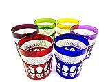 Vasos de whisky de cristal hechas a mano, Klein Baccarat, 6 vasos (20 cl), vasos Roemer, firma Cristal Klein 54120 Baccarat, idea de regalo.