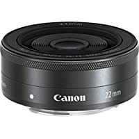 Canon EF-M 22 mm f/2 STM Lens, Black
