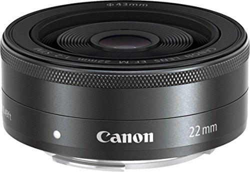 Canon Obiettivo Grandangolare EF-M 22 mm, f/2.0 STM, Compatibile con Canon EOS M, Nero/Antracite