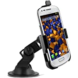 mumbi KIT Support fixation pare-brise voiture Samsung Galaxy S3 mini / Galaxy S III mini - Support ventouse portrait / paysage 90°