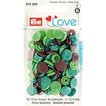 Prym 393005 Color snaps Prym Love Druckknopf Color KST 12,4mm grün/hellgrün/braun ***BITTE PRODUKTBESCHREIBUNG BEACHTEN***