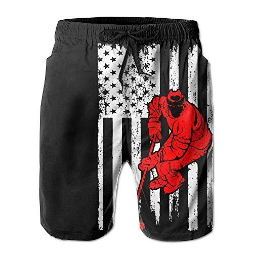 Sports USA Flag Mens Quick Dry Swim Trunks Athletic Beach Board Shorts PantsXXL ()