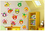 Jaamso Royals 'Fruits  with Cartoon' Wall Sticker (Vinyl, 30 cm x 5.1 cm x 5.1 cm)