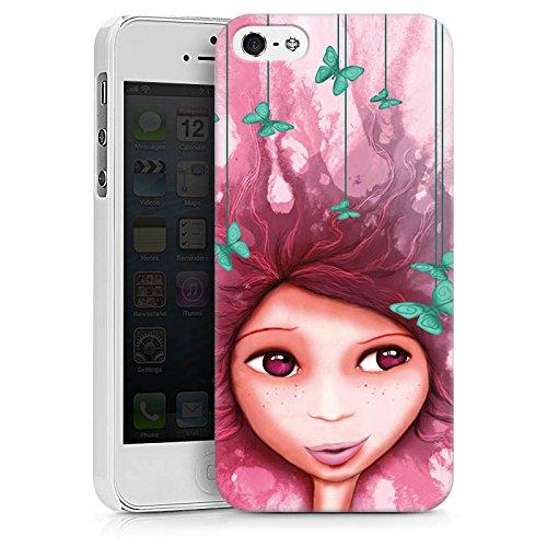 Apple iPhone X Silikon Hülle Case Schutzhülle Mädchen Schmetterling Pink Lila Hard Case weiß
