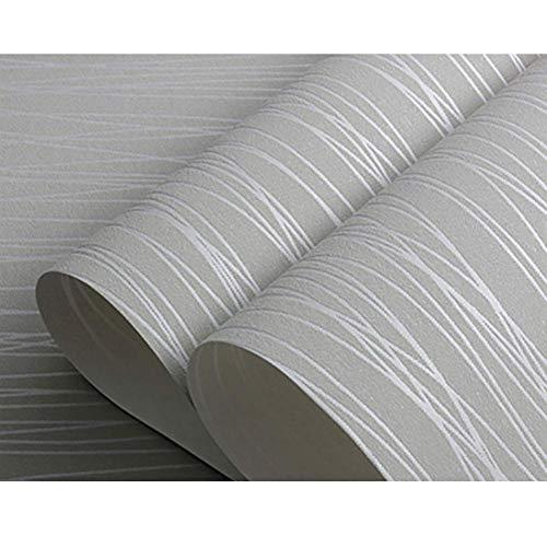GJC Wandaufkleber 3D Striped Vliestapete Schlafzimmer Büro Minimalistischen Engineering Schlafsaal Dekoration Tapete 10 * 0.53 Mt,M