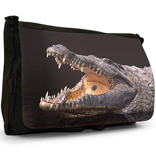 Fancy A Bag Borsa Messenger nero Crocodile Nile Crocodile
