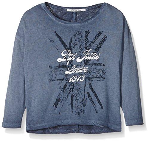 pepe-jeans-clementine-jr-t-shirt-bambina-blu-indigo-12-anni-taglia-produttore-12