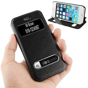 Coque avec rabat en Cuir pour iPhone 5 / 5S