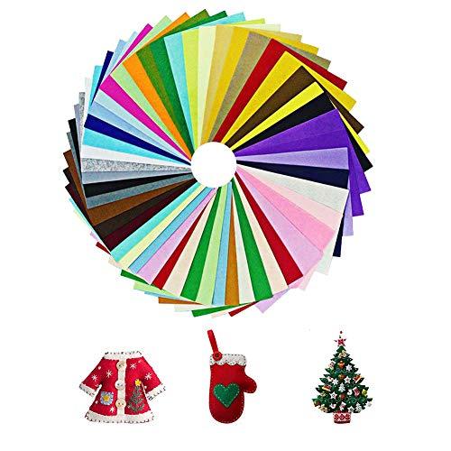 Ciaoed Filz Stoff 42 Farben Bastelfilz Filz Blätter Polyester 20 * 30cm Felt Fabric Stoff filzplatten DIY Handwerk Nähen