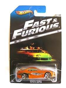 hot wheels fast furious miniature toyota supra orange chelle 1 64 jeux et jouets. Black Bedroom Furniture Sets. Home Design Ideas