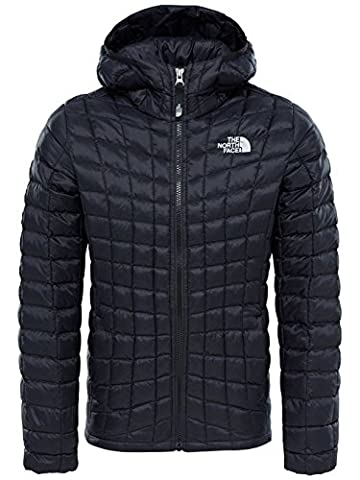 The North Face Girls' Thermoball Hoodie Jacket, Tnf Black, X-Small