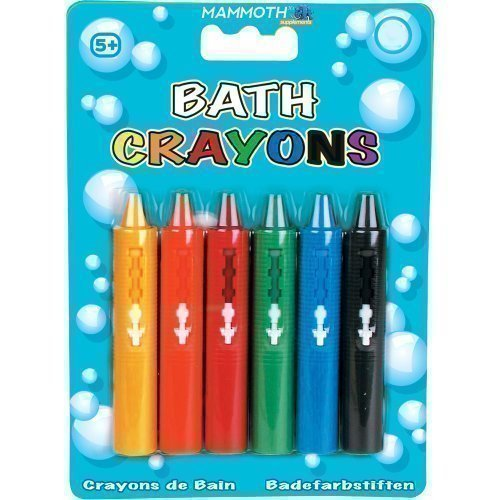 Mammoth XT Supplements 6 x Washable Bath Crayons - SIX COLOURS / COMES IN CASE