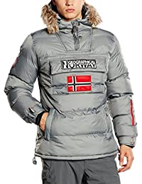Geographical Norway Bolide, Chaqueta Bomber para Hombre, Gris (Grey), Large