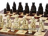 Berkeley Isle of Lewis Chess Set (Cream and Brown)