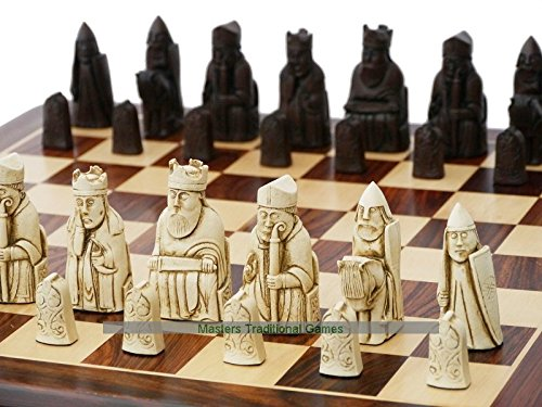 Berkeley Isle of Lewis Chess Set (Cream and Brown)