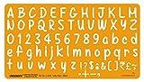 Letteratura Template Drawing Drafting Casual Font- III Lettera Stencil Dimensione 20 mm