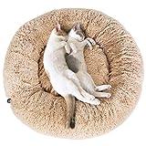 PEDY Schöne Tierbett Hundebett Haustier Katzenbett Hundesofa Katzensofa Kissen - Flauschig, Weich u. Waschbar für Katzen und kleine mittlere Hunde Braun - 7
