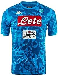 SSC Napoli Camiseta de juego local réplica azul cielo fantasía, ...