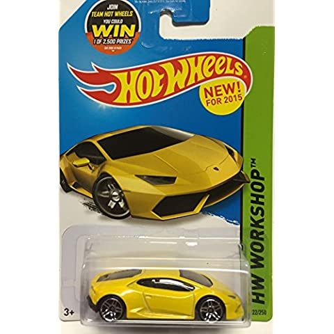 Hot Wheels, 2015 HW Workshop, Lamborghini Huracan LP 610-4 [Yellow] 222/250 by Hot Wheels