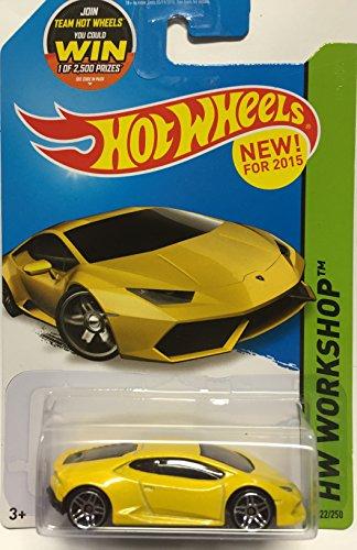 Hot Wheels, 2015 HW Workshop, Lamborghini Huracan LP 610-4 [Yellow] 222/250 by Hot Wheels