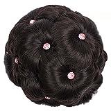 Watopi Naturel Scrunchie Extension Cheveux Synthetique Fibres Bien Garnits