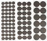 com-four® 80x Selbstklebende Möbelgleiter Filzgleiter Stuhlgleiter (080 Stück - Grau Rund Set 1)