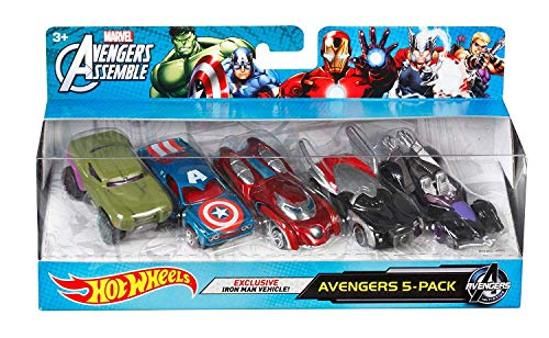 Hot Wheels Marvel Avengers Die-Cast Vehicle (5-Pack) by Hot Wheels