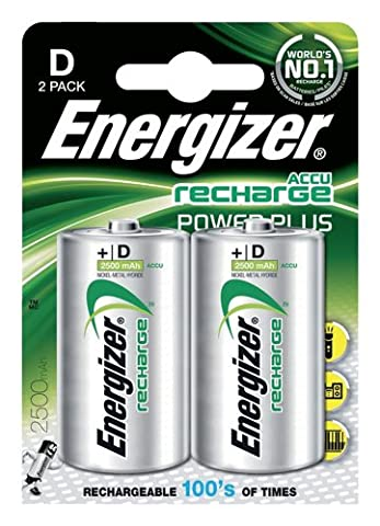 Energizer Battery Rechargeable Advanced Size D 1.2V NiMH 2500mAh HR20 Ref 626149 [Pack 2]
