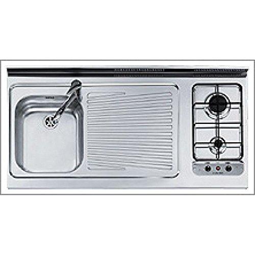 JOLLYNOX MonoBlocco 1U12012DVE Appoggio 120x60 cucina lavello piano cottura (Fuochi a DESTRA)