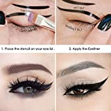 #5: ELV Cat Smokey Eyes Makeup Eyeliner Stencils Repeatable Reusable DIY Eye Makeup Card Template Tools Kit (2 Pieces)