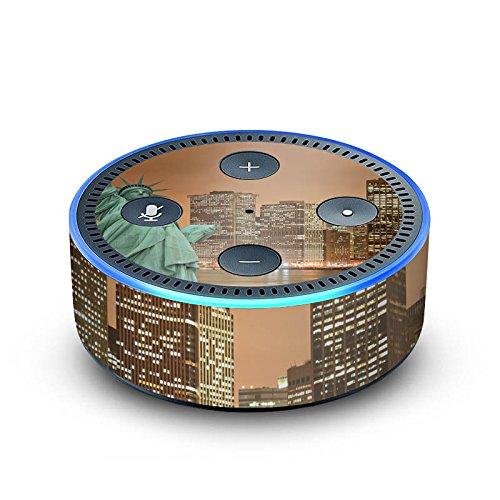 amazon Echo Dot 2.Generation Folie Skin Sticker aus Vinyl-Folie Skyline Freiheitsstatue New York