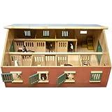 Kids Globe 610595 - Bauernhof Pferdestall mit 7 Boxen, Maßstab 1:24