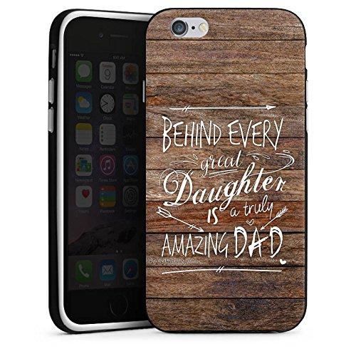 Apple iPhone X Silikon Hülle Case Schutzhülle Vatertag Spruch Dad Silikon Case schwarz / weiß