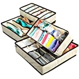 FASTUNBOX (LABEL) Fabric Foldable Storage Box Closet Drawer Dividers Wardrobe Under Bed Organizer for Clothes, Shoes…