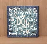 Hund U-Bahn Kunst Schild Geschenk für Tierliebhaber Geschenk für Hundeliebhaber Hund Mama Hund Papa Hund Hund Hund Schild Fell Baby Holzschild Spruch Lustiges Schild Wandkunst