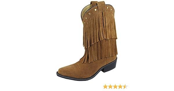 Smoky Girls Wisteria Double Fringe Tan Western Boot,1.5 M US Little Kid,Tan Smoky Mountain Boots 3514C