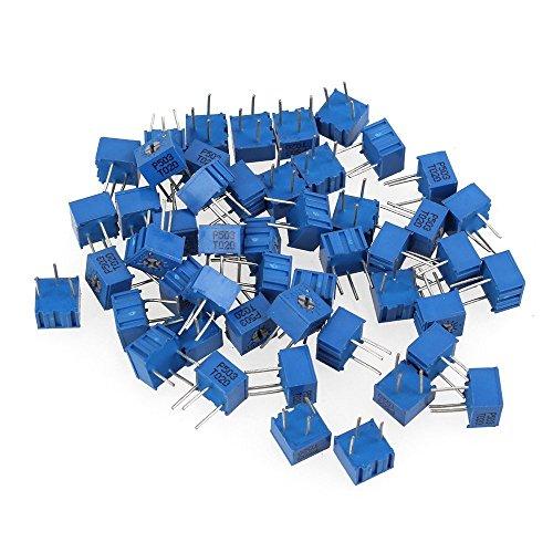 dn-multivuelta-50k-ohm-3362p-resistor-variable-trimmer-pot-potencimetro-paquete-de-50