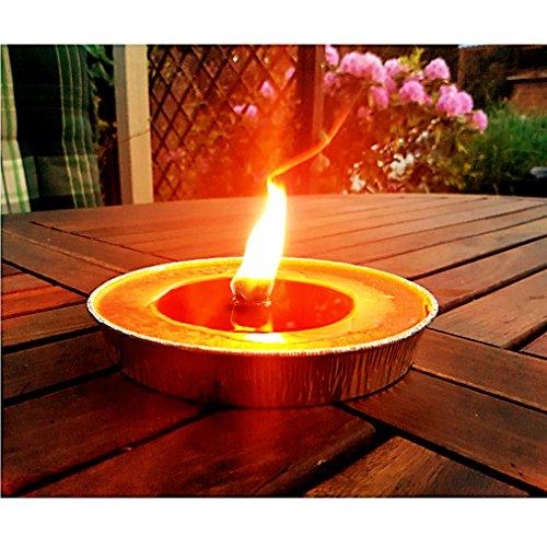 Alu Flammschale 16 cm, Brennzeit 8 Stunden (1) Gartenkerze Outdoorkerze