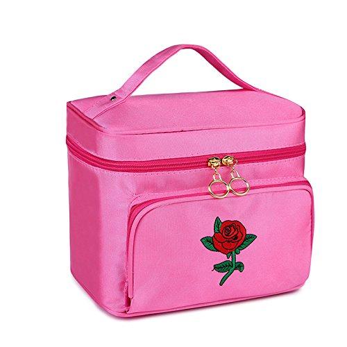 Symboat professionale donne scatola cosmetica grande capacità di archiviazione borsa a mano viaggio trousse da toilette trucco