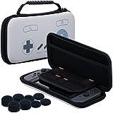 Pandaren® 3 IN 1 Trage tasche Beutel Lagerung Aufbewahrungsbox (SNES) für Nintendo Switch Konsole und Spiele MIT Silikon hülle x 2, PRO Daumen Griffe aufsätze x 8