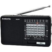 XHDATA D-328 Soporte de Radio portátil Tarjeta TF FM Am SW Receptor Mundial multibanda (D-328)