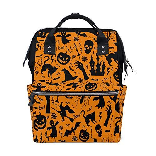 Angst Happy Halloween Schädel Große Kapazität Windel Taschen Mummy Rucksack Multi Funktionen Wickeltasche Tasche Handtasche Für Kinder Babypflege Reise Täglichen Frauen