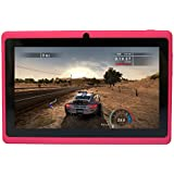 Yuntab Quad Core A33 1,5 GHz Q88 Tablette Tactile PC Android 4.4 Wifi Rom 8 Go HD 1024 x 600 Support 3D Jeux Google Play Store YouTube, Netflix Rose