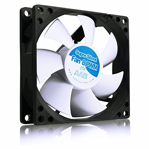 AAB Cooling Super Silent Fan 8 PWM - 80mm leise und effizient Gehäuselüfter mit 4 Anti-Vibrations-Pads - perfekt für CPU-Kühler Cpu-lüfter 80mm