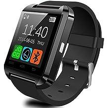 Reloj inteligente genérico U Watch U80 con Bluetooth 3.0 y correas de silicona para teléfonos inteligentes con iOS como iPhone 4, 4S, 5, 5C, 5S y 6 y dispositivos Android como Samsung S2, S3, S4, Note 2 y 3, HTC y Huawei