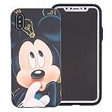 Coque Disney pour iPhone X, protection contre les chutes, couche hybride [TPU + PC],...