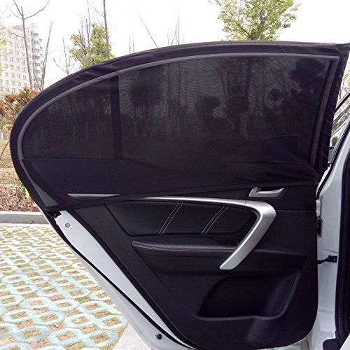 Preisvergleich Produktbild Auto Sonnenschutz 2 Stück, 98% UV Schutz Sonnenblende Auto für Baby, Kinder, Mitfahrer, Haustiere-80x65CM (31.5inx25.5in), Schwarz Seitenscheibe Autosonnenschutz