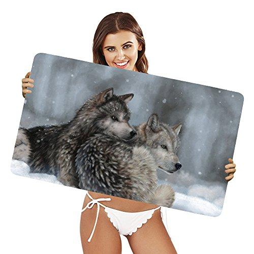 Preisvergleich Produktbild XtremePads [ Große XXL Gaming-Maus-Pad / Mat Schreibtischunterlage ] - ( Artistic Painting Wolf Winter Snow )