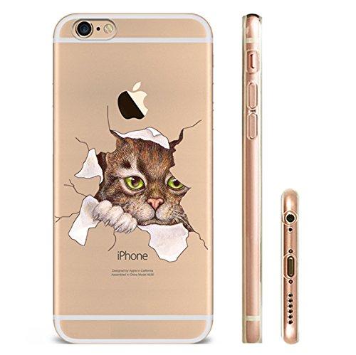 iPhone 7 Hülle Katze TPU Silikon Schutzhülle Handyhülle Case - Klar Durchsichtig Clear für das iPhone 7/7plus cat53