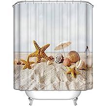 starsglowing 180x180cm tende da doccia tenda per doccia tenda doccia anti muffa impermeabile 12 anelli per tende doccia per vasca da bagno typ 2
